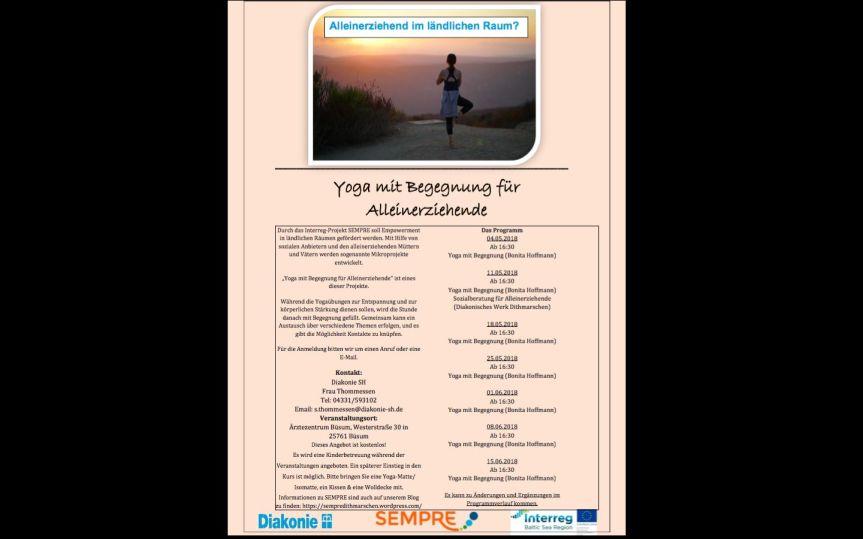 """""""Yoga mit Begegnung für Alleinerziehende"""" startet jetzt am 4.Mai"""